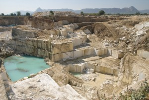stone mine in a tiger reserve