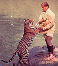 Billy with Tara the tiger
