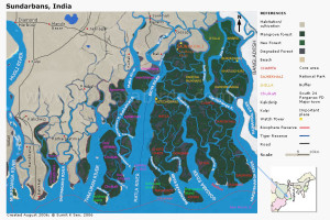 Map of the Sunderbans